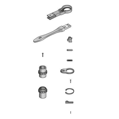 Scafom-rux Ersatzteil (Ratsche) Stift für Umschalthebel