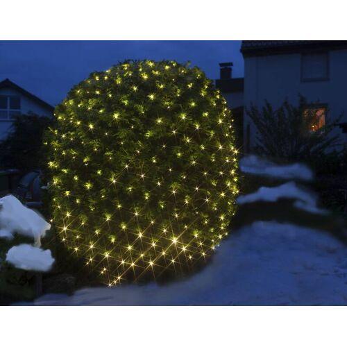Batteriebetriebenes Lichternetz mit 200 warmweißen LEDs, 3 x 3 Meter