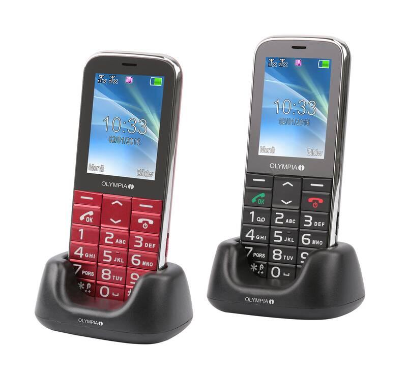 Olympia Großtasten Mobiltelefon Joy II in rot
