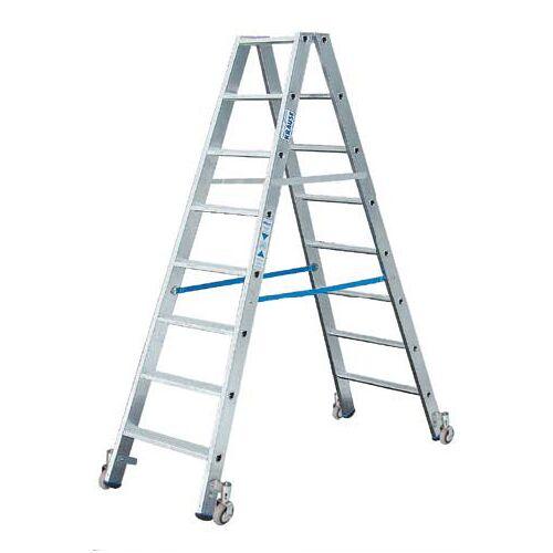KRAUSE Stufen Doppelleiter 2 x 6 Stufen Leiter Alu fahrbar