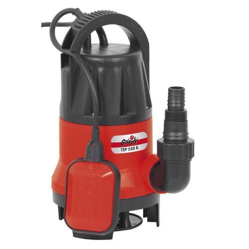 Grizzly Schmutzwasser Tauchpumpe TSP 550 K, 550 Watt
