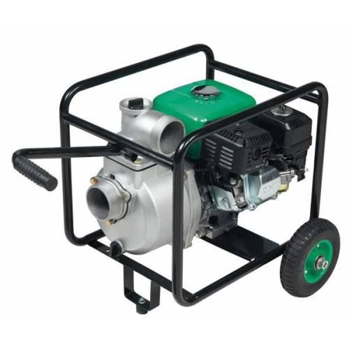 Ribimex Benzin Motorpumpe 3 mit Radsatz