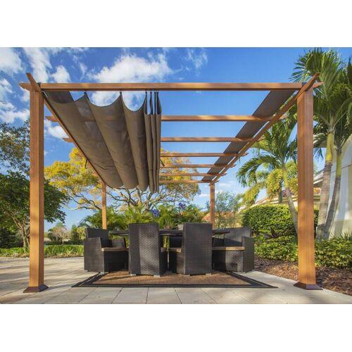 "Paragon Outdoor Outdoor-Pavillon ""Florida"", Weiß, verstellbares Sonnensegel"