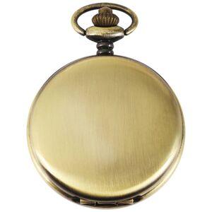 Metall Taschenuhr mit einem Gehäuse aus Metall in Bronze