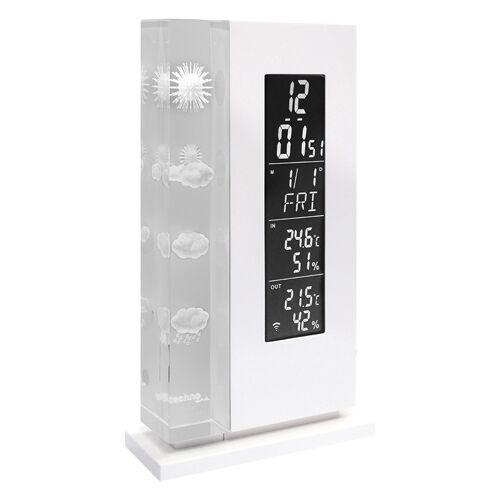 Techno Line Wetterstation WS 6600  mit Wettervorhersage durch in Glas gelaserte Wettersymbole