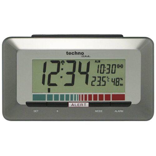 Techno Line Luftgüte-Monitor, mit Funkuhr, Temperaturanzeige und Raumluftanzeige