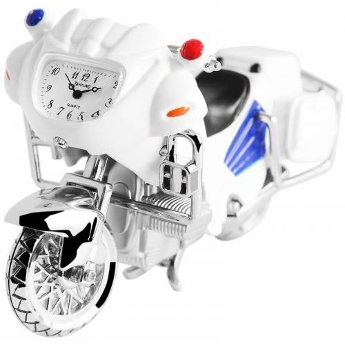Tavolino Miniaturuhr mit mehrfarbigen Motorradmotiv und Quarzwerk