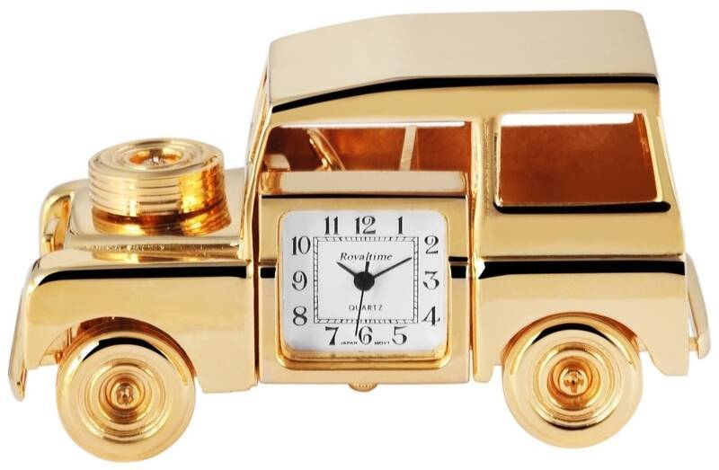 Royaltime Miniaturuhr mit goldfa...