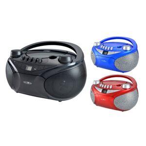 Reflexion Boombox mit MP3/CD, Kassette, USB, SD und AUX-IN, rot