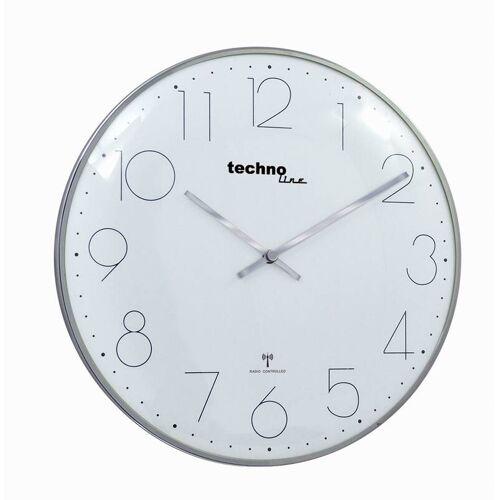 Techno Line Funk-Wanduhr WT 8240 chrome