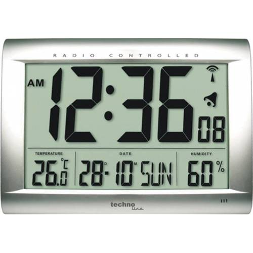 Techno Line Wanduhr WS 8009 mit Jumbo LCD-Anzeige