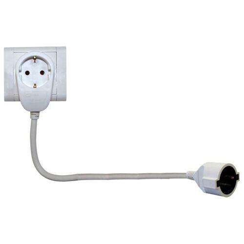 REV Powersplit Verlängerung 3 m / weiß
