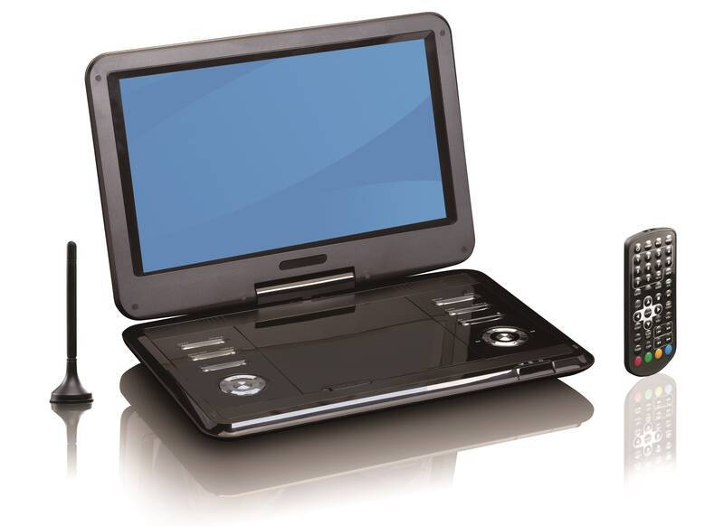 Reflexion Portabler DVD-Player mit 12 LCD- Bildschirm und DVB-T2 HD Tuner