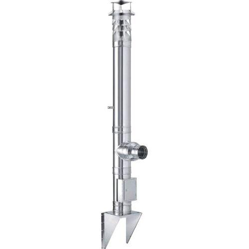 EURO WINDKAT Doppelwandiger Edelstahl Schornstein NW 150 mm, Set, 5,5 m Höhe
