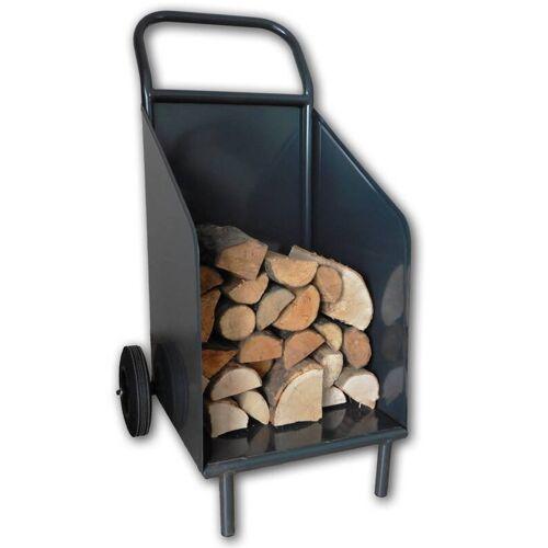 EURO WINDKAT Kaminholzwagen - für Holz, Kaminholz, Feuerholz und Brennholz, schwarz