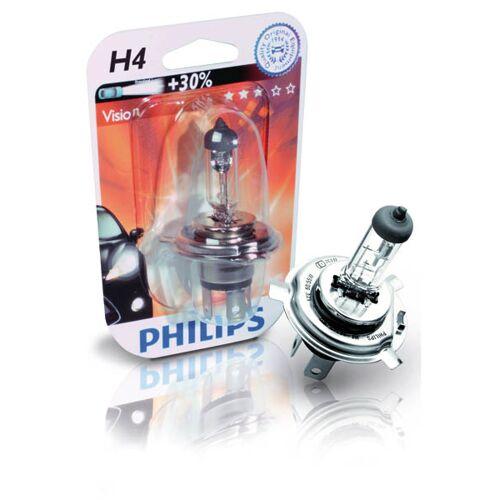 Philips Halogenlampe Vision H7 bis zu +30% mit 12V / 55W Sockel PX 26 d
