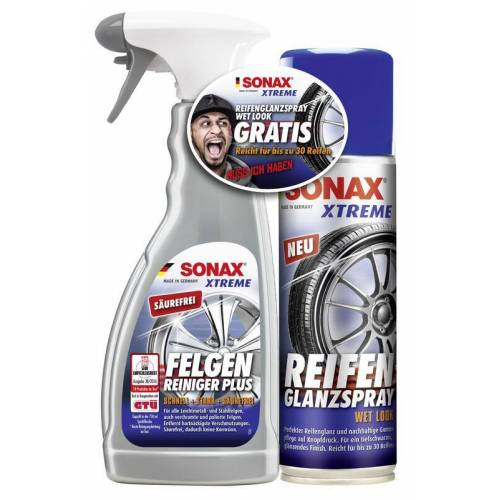 Sonax XTREME Felgenreiniger - Set mit Reifenglanz - Spray