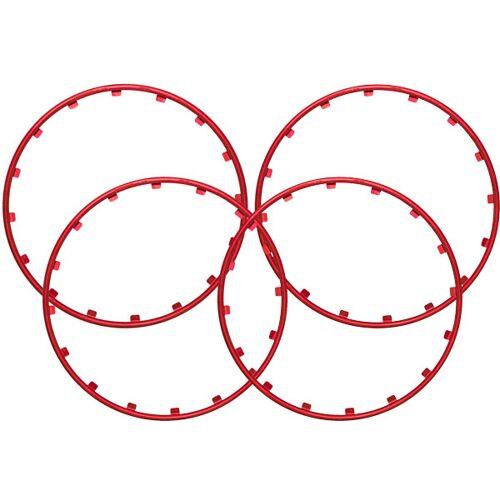 Rim Ringz Felgenring, 17 Zoll, Farbe rot