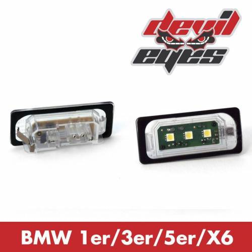 Devil Eyes LED Kennzeichenbeleuchtung BMW E39/E46/E82/E88/E60/E61/E71/E90/E91/E