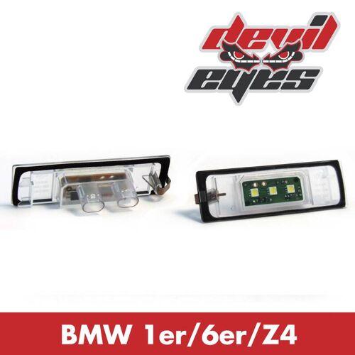 Devil Eyes LED Kennzeichenbeleuchtung BMW E63, E81, E85, E87, E89