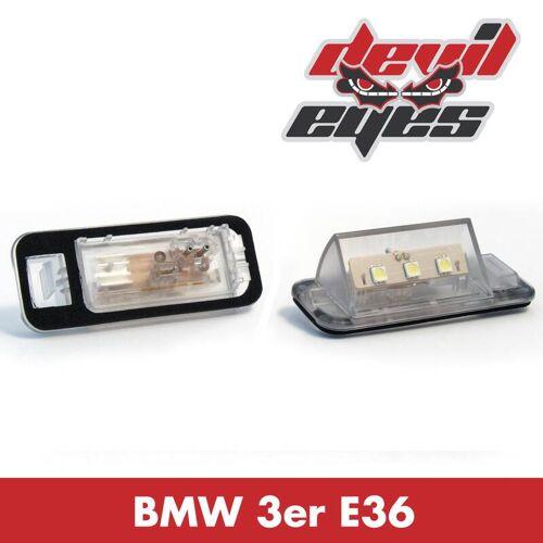 Devil Eyes LED Kennzeichenbeleuchtung BMW E36