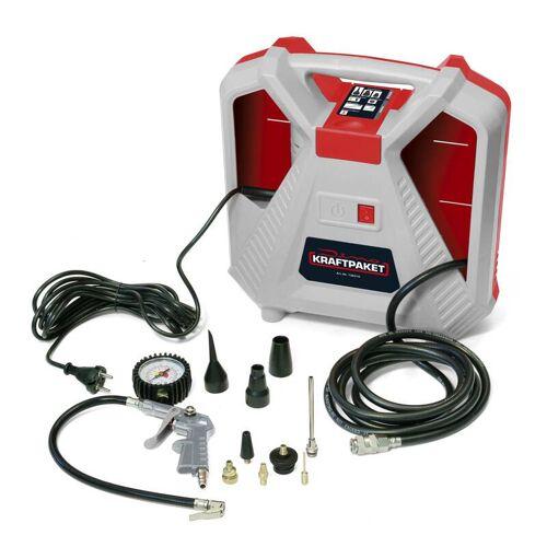 Dino KRAFTPAKET Tragbarer Luft Kompressor, Druckluftkompressor - 2in1