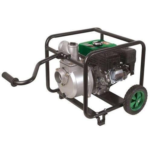 Benzin Motorpumpe 3 mit Fahrwerk