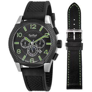 Engelhardt Kautschuk Armbanduhr mit einem Gehäuse aus Edelstahl in Schwarz