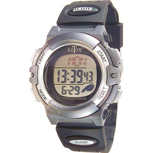 Retox RETOX Funk LCD Armbanduhr mit Alarm, Stoppuhr + Datumanzeige, 3ATM