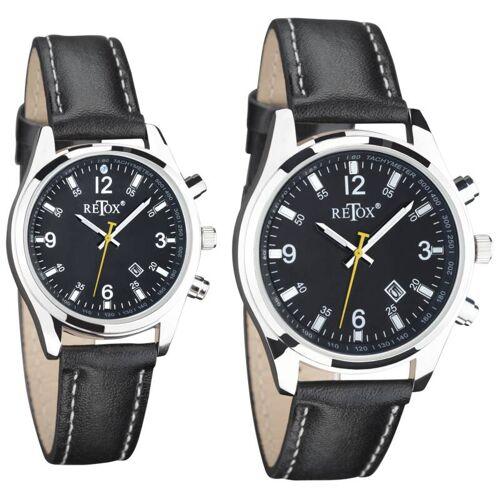 Retox Uhren Set für Sie und Ihn mit Datumsanzeige