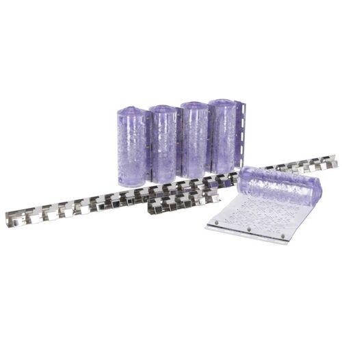Fliegen-Streifenvorhang-Set mit PVC-Streifen, 225 x 30 cm