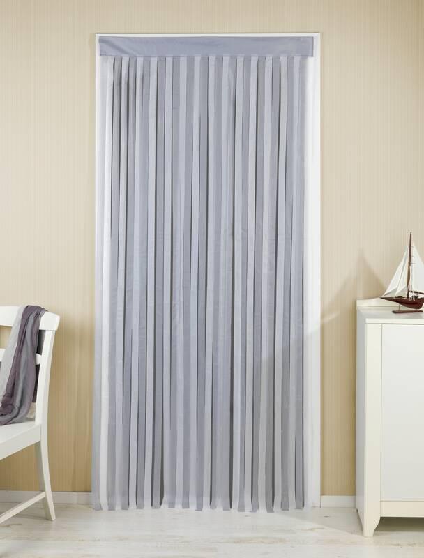 Wenko Türvorhang grau-weiß