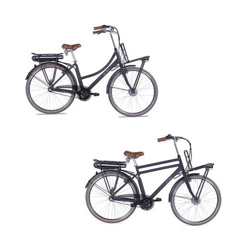 Llobe City-E-Bike Rosendaal 2, Damen, schwarz 15,6 Ah
