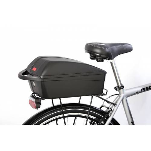 FISCHER Fahrrad Gepäckbox, abschließbar, mit Reflektor