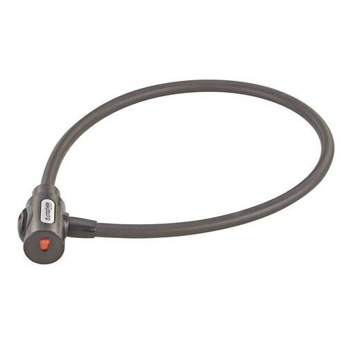 Prophete Kabelschloss mit Halter, Maße: 800 mm, Ø 12 mm, Laser-Cut Technologie, 1 Standard Schlüssel + 1 LED-Schlüssel