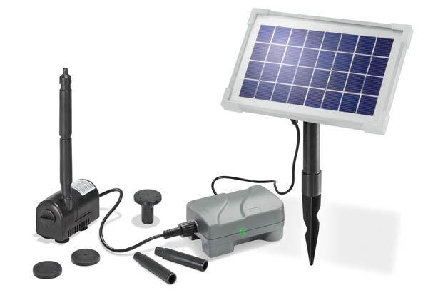 Esotec Solar Pumpenset Rimini Plus  mit Akku + Solarmodul für Ihren Teich