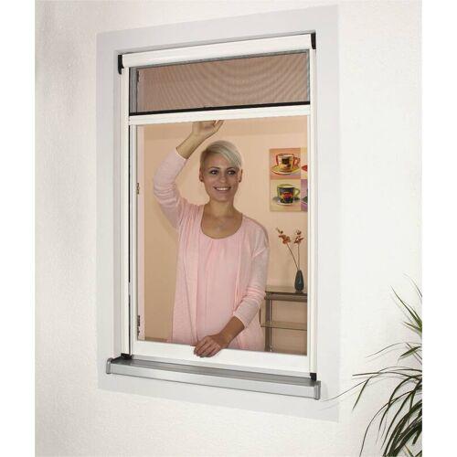 Westfalia Insektenschutz Rollo 100 x 160 cm weiß, der moderne Fliegenvorhang für Fenster