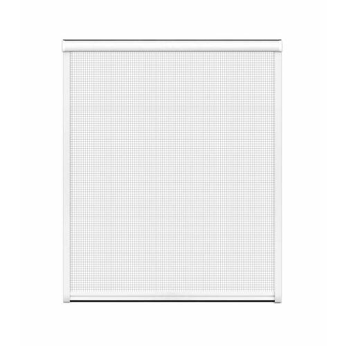Westfalia Insektenschutz-Rollo für Fenster, 130 x 160 cm in weiß