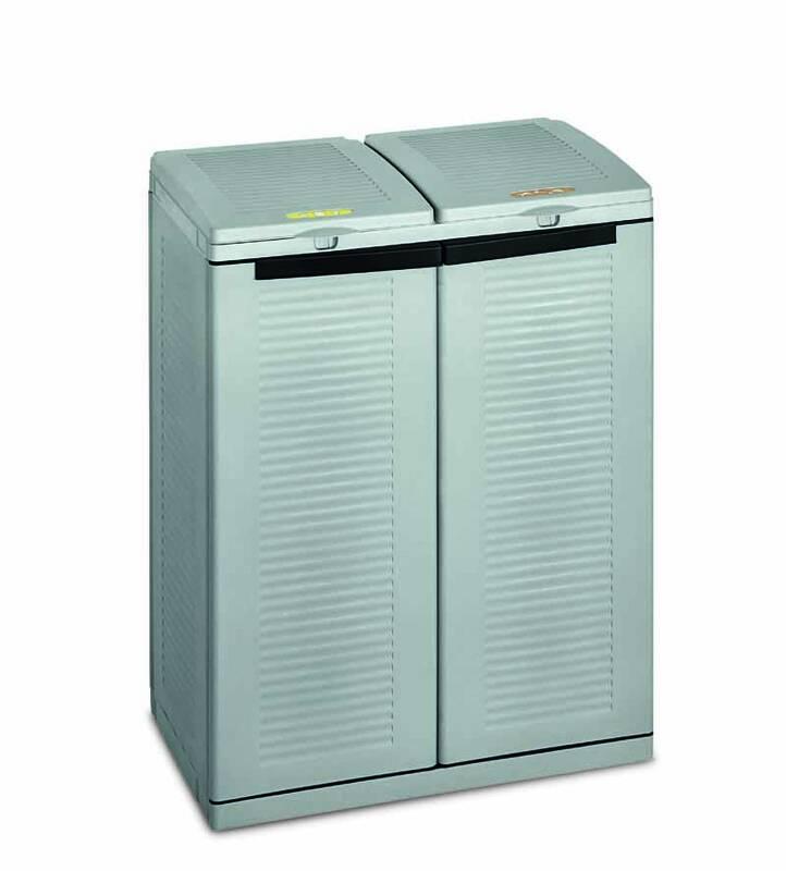 Terry 2-faches Mülltrennsystem Ecocab 2 für den wettergeschützten Außen- und Innenbereich