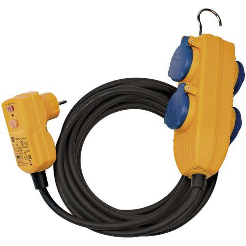 Brennenstuhl Steckdosenblock 4-fach für den Außenbereich, 10m, IP54