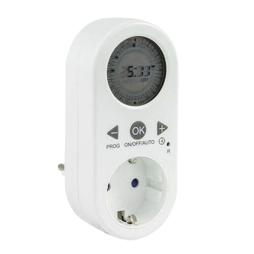 REV Digitale Zeitschaltuhr mit LCD Anzeige, IP20, weiß