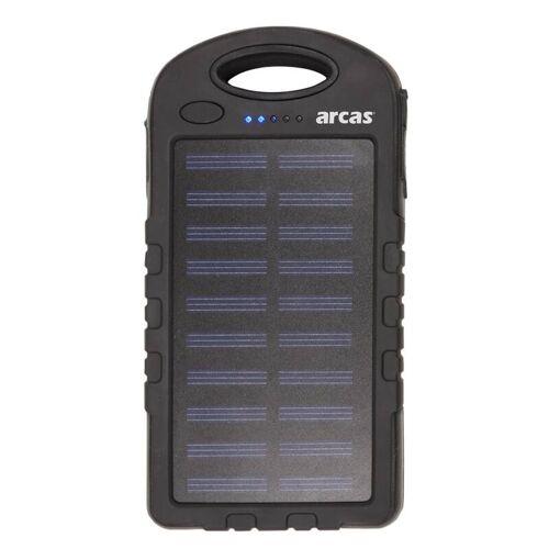 Arcas Solar-Powerbank S60 mit 6000mAh und Taschenlampenfunktion