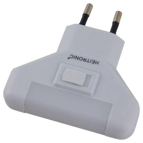 Heitronic LED Nachtlicht mit Schalter und 5 LEDs, 1 Watt
