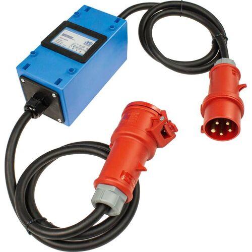 AS Schwabe Stromzähler Mixo 2x1,5m, 400V, mit CEE-Stecker und CEE-Kupplung 5-polig 400V, 32A, MID geeicht