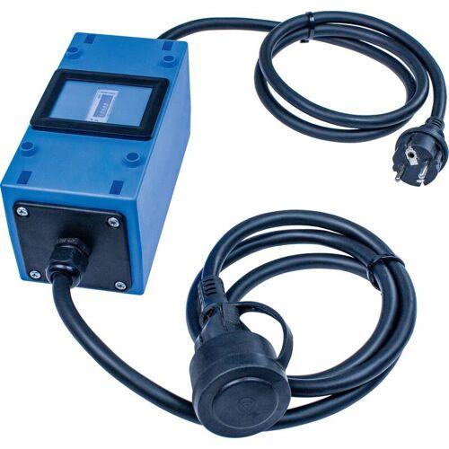 AS Schwabe Stromzähler Mixo 2x1,5m, 230V, mit Schutzkontaktstecker und Kupplung, MID geeicht