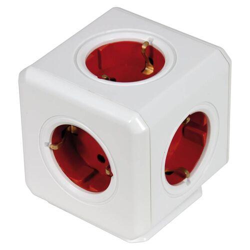 Heitronic Steckdosenwürfel Powercube 5-fach