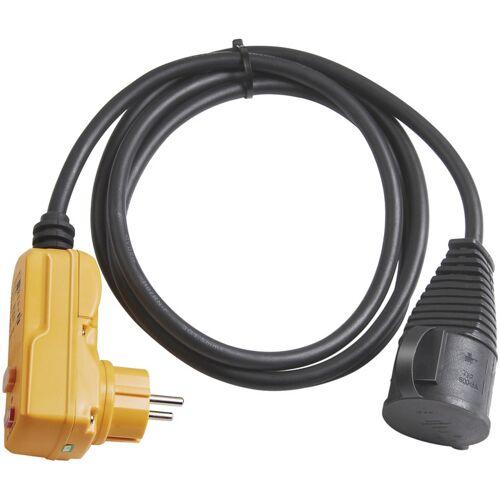 Brennenstuhl Schutzadapterkabel FI IP44 2m schwarz