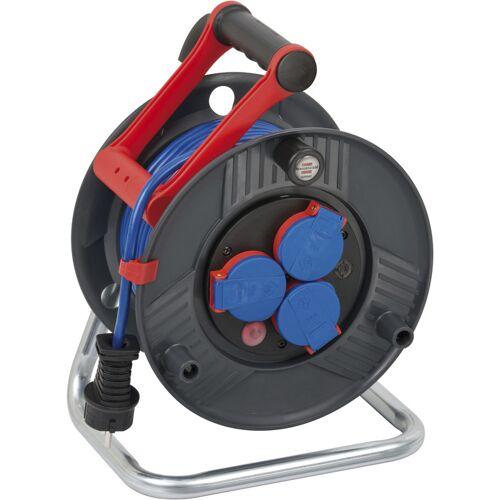 Brennenstuhl Kabeltrommel Garant IP44, Durchmesser 240mm, 25m blaues Bremaxx Kabel