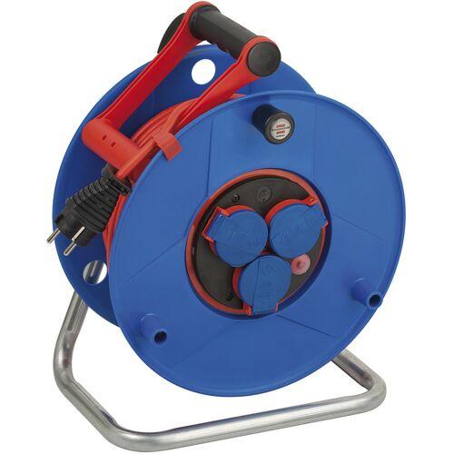 Brennenstuhl Kabeltrommel Garant IP44, Durchmesser 290mm, 50m blaues Bremaxx Kabel