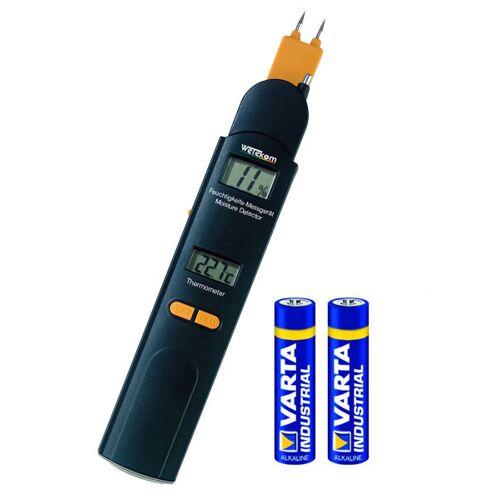 Wetekom Feuchtigkeitsmesser 0-60% /Thermometer -10 bis +50°C + GRATIS DAZU Batterien